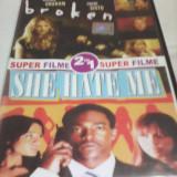 FILM DVD SUPER FILME 2 IN 1 BROKEN/SHE HATE ME,SUBTITRARE ROMANA,ORIGINAL