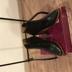 Ghete dama - Platforme inalte piele ZARA