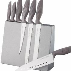 Set 7 Cutite inox cu suport magnetic Peterhof
