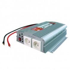 Invertor de tensiune auto Carpoint 12V-230V 1000W 50Hz transformator cu tip priza 230V folosita in Belgia si Franta - Invertor Auto