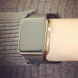 NOU Ceas unisex dama barbat top smartwatch Apple Watch negru curea silicon LED - Ceas barbatesc Geneva, Lux - elegant, Quartz, Metal necunoscut, Analog