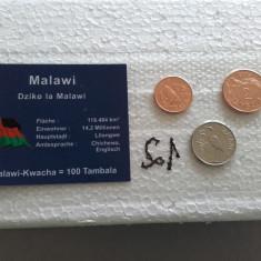Set lot 3 monede UNC Malawi 1 2 si 5 tambala 2003 numismatica moneda bani vechi, Africa