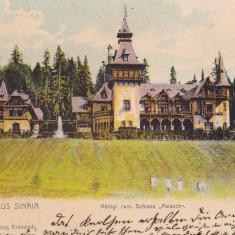 CASTELUL REGAL PELES DIN SINAIA, SALUTARI DIN SINAIA, CIRCULATA AUG. *903 - Carte Postala Muntenia pana la 1904, Printata