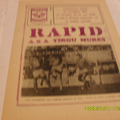 Program meci - Program Rapid - ASA Tg. Mures