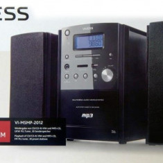 Combina audio, Micro-sistem, 0-40 W - Minisistem audio VIVESS VI-MSMP-2012, CD Player MP3, tuner FM, USB, AUX, 10W RMS