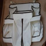 Cos bebelusi, Altele, Textil, Alb - Accesoriu depozitare lucruri bebelusi