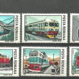 Romania 1987 - LOCOMOTIVE, serie nestampilata M93 - Timbre Romania