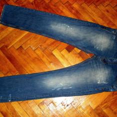 BLUGI ZARA MAN -MARIMEA W31XL34(TALIE-88CM, LUNGIME-114CM) - Blugi barbati Zara, Culoare: Indigo, Cu rupturi, Slim Fit, Normal