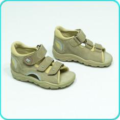 DE CALITATE _ Sandale PIELE, comode, aerisite, cu protectie, ELEFANTEN _ nr. 21 - Sandale copii, Culoare: Bej, Baieti, Piele naturala
