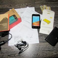 Telefon Vodafone Smart First 6 NOU Factura + Garantie + Husa piele + 3 Folii - Telefon mobil Vodafone, Negru, 4GB, Neblocat, Single SIM, Dual core