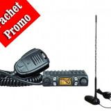 Kit statie radio CB CRT One + Antena PNI Extra 45 cu baza magnetica