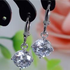 Cercei MODEL VINTAGE Dangle ARGINT 925 cristale similare Swarovski - Cercei argint