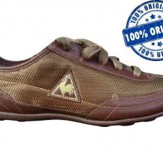 Adidasi dama Le Coq Sportif Marquise - adidasi originali - adidasi panza, Marime: 37, 39, Culoare: Maro, Textil