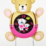 Ceas cu pendula pentru copii - Ursulet - Produs Nou - LICHIDARE DE STOC