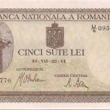 Bancnota 500 Lei 1941 (iulie) Unc-!