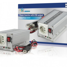 Invertor de tensiune 12V-230V, 300W, iesire USB 5V, HQ - vit_HQ-INV300WU-12 - Invertor Auto