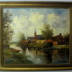 TABLOU, PICTURA IN ULEI PE PANZA, GERMANIA
