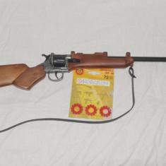 Pusca cu capse jucarie pentru copii - lungime 76 cm - Pistol de jucarie Altele, 4-6 ani, Metal, Baiat