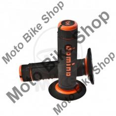 MBS Set mansoane motocross Domino D.22, lungime 118mm, negru/portocaliu, Cod Produs: 7294945MA