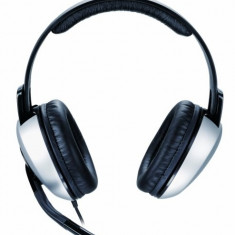 Casti Genius HS-05A, Headset, w/Roll-up cable, Silver - Casti PC