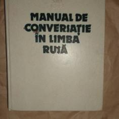 Manual de conversatie in limba rusa an 1983 / 415pag- Sima Borlea Altele