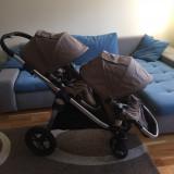 Carucior copii gemeni - Carucior Gemeni, 1-3 ani, Pliabil, Altele, Maner reversibil
