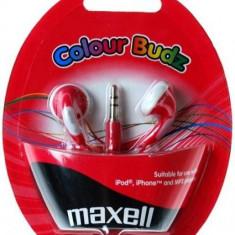 CASTI MAXELL STEREO COLOUR BUDZ RED 303365.02.CN - Casti PC