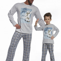 Pijama barbati, colectia Tata si Fiu - Cornette - 124-64 Top of the world - Pijamale barbati, Marime: S, M, L, XL, XXL, Culoare: Albastru