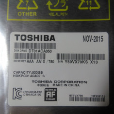 Vand HDD 3.5 pt desktop Toshiba 500Gb nou-sigilat - Hard Disk