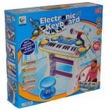 Orga electronica cu microfon si scaunel - Instrumente muzicale copii
