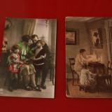 Doua Carti Postale vechi - Frantuzesti - Carte postala tematica, Circulata, Fotografie, Franta