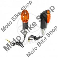 MBS Set semnalizari JMP Cateye, 12V/21W, brat scurt, prindere M10, negru, Cod Produs: 7054893MA - Semnalizatoare Moto