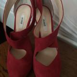 Sandale Guess - Sandale dama Guess, Marime: 37, Culoare: Rosu