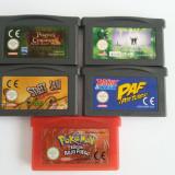5X jocuri Nintendo Game Boy Advance casete dischete Pokemon Basketball Asterix - Jocuri Game Boy