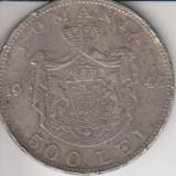 Romania, 500 lei, 1944, argint, 31 mm - Moneda Romania