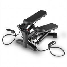 Klarfit Powersteps, negru, stepper rotativ cu corzi - Banca de exercitii