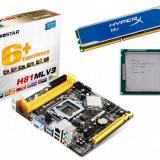 Kit Haswell, Core i5 4570 3.2GHz + Placa de Baza Biostar + 4GB HyperX DDR3 cu radiator, Pentru INTEL, LGA 1150, Contine procesor, MicroATX