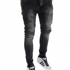 Blugi tip Zara fashion - blugi barbati conici - COLECTIE NOUA - 7414, Marime: 29, 30, 31, 32, 33, 34, 36, Culoare: Din imagine, Slim Fit