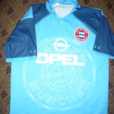 Tricoul Echipei Bayern Munchen, portar Kahn, masura XL, made Italia - Tricou echipa fotbal, Culoare: Bleu