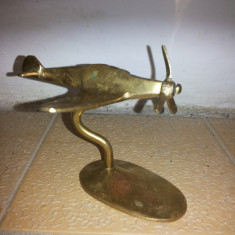 Avioane vechi, miniaturale, englezesti din bronz, pe suport - Macheta Aeromodel
