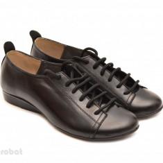 Pantofi dama negri casual-office din piele naturala cod P62 - Made in Romania - Pantof dama, Marime: 36, 37, 38, 39, 40, 35, Culoare: Negru