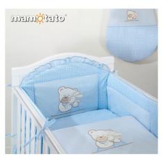 Laterala lunga universala Ursulet si Iepuras Bleu Mamo-Tato - Lenjerie pat copii