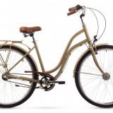 Bicicleta Femei, Romet, Pop Art, 26 2016, Crem, 26×1.75 Romet - Bicicleta pliabile