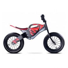 Bicicleta din lemn fara pedale Enduro Red Toyz - Bicicleta copii