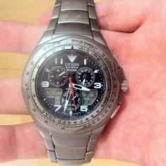 Citizen Eco-Drive Titanium Skyhawk Mens Watch JR3069-54E - Ceas barbatesc