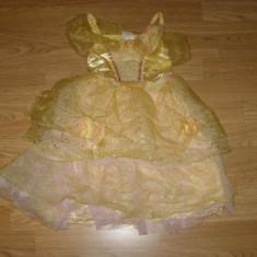 Costum carnaval serbare printesa belle pentru copii de 3-4 ani - Costum Halloween, Marime: Masura unica, Culoare: Din imagine