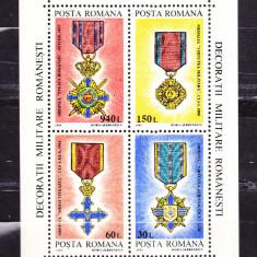 Timbre RO. 1994/*1366 = DECORATII MILITARE ROMANESTI 1866-1945, MNH - Timbre Romania, Nestampilat