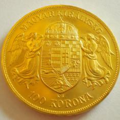 100 KORONA 1908 - MONEDA DE AUR 900 %, Europa