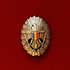 INSIGNA MILITARA VECHE - ACADEMIA MILITARA - PRIMUL TIP DUPA 1990 - RARA !