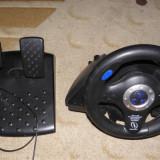 Volan+pedale+schimbator Blue Thunder Racing Wheel, PS, PS2